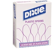 GP PRO Dixie® Polystyrene Medium Weight Soup Spoons, White, 100/Box