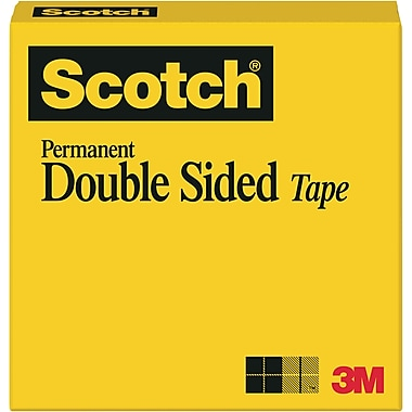 Scotch® Permanent Double-Sided Tape, 1/2