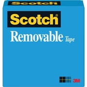 "Scotch® Removable Tape 811, 1/2"" x 36 yds, 1"" Core"