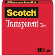 "Scotch® Transparent Tape 600, 3/4"" x 36 yds"