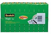 Scotch® Magic™ Tape, 3/4' x 900', 1' Core, 20/Pack (810SX20)
