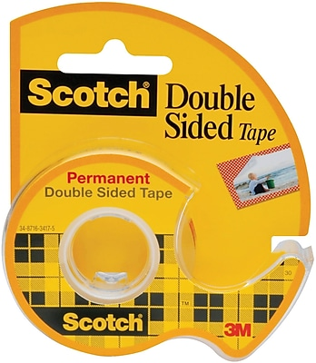 Scotch® Double Sided Tape, Permanent, 1/2