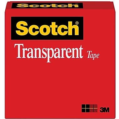 Scotch 600 Transparent Tape, 1/2