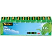 "Scotch® Magic Greener Tape, Invisible, Write On, Matte Finish, 3/4"" x 25 yds., 1"" Core, 10 Rolls (812-10P)"