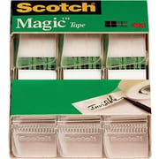 "Scotch® Magic™ Tape, 3/4"" x 300"", Each w/Dispenser, 3/pack (3105)"