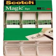"""Scotch® Magic™ Tape, 3/4"""" x 300"""", Each w/Dispenser, 3/pack (3105)"""