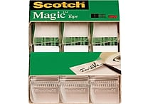 Scotch® Magic™ Tape, 3/4' x 300', Each w/Dispenser, 3/pack (3105)