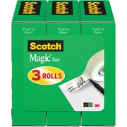 "Scotch® Magic™ Tape 810, 1/2"" x 36 yds, 1"" Core, 3/Pack"