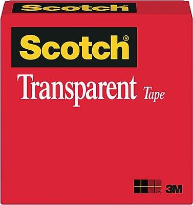 Scotch® Transparent Tape, 1/2