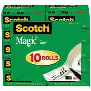 "Scotch® Magic™ Tape, 3/4"" x 1000"", 1"" Core, 10/pack (810P10K)"