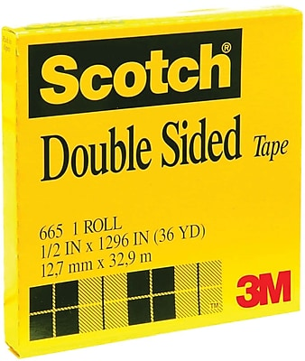 Scotch® Double Sided Tape 665, 1/2