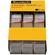 "Scotch® Double Sided Tape, 1/2"" x 250"", 1"" Core, 3/pack (3136)"