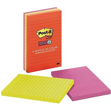 Post-it® Super Sticky Notes, 4