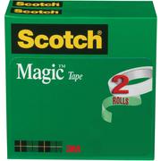 """Scotch® Magic™ Tape 810, 3/4"""" x 72 yds, 3"""" Core, 2/Pack"""