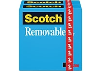 Scotch® Removable Tape 811, 3/4' x 36 yds, 1' Core
