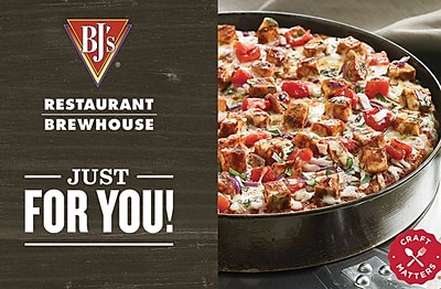 BJ's Restaurant Gift Card 50