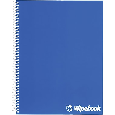 Wipebook, 1 Subject Dry-Erase Notebook, Graph Ruling, Blue (817596000600)