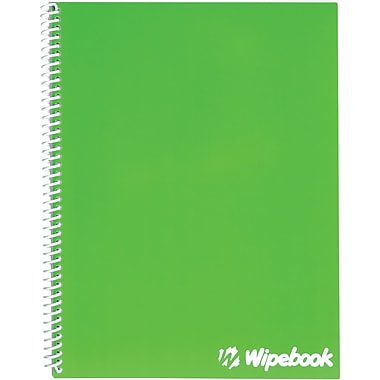 Wipebook, 1 Subject Dry-Erase Notebook, Ruled, Green (817596000594)