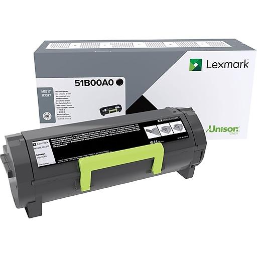 Lexmark 51B00A0 Black Toner Cartridge, Standard