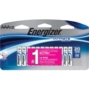 Energizer Ultimate Lithium Battery, AAA, 12/Pack