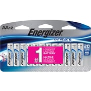 Energizer Ultimate Lithium Battery, AA, 12/Pack