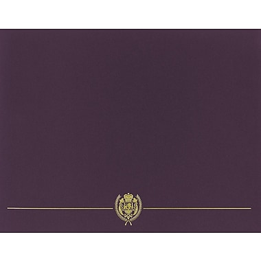 Great Papers® Classic Crest Certificate Holders, Plum