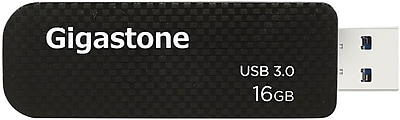 Gigastone 16GB USB 3.0, Black (GS-U316GSLBL-R)