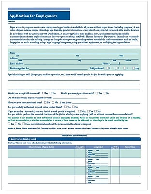 Complyright Job Application Forms  Staples