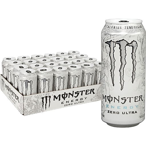 Monster Energy Ultra Zero Drink, 16 Oz. Cans, 24/Pack (145105)