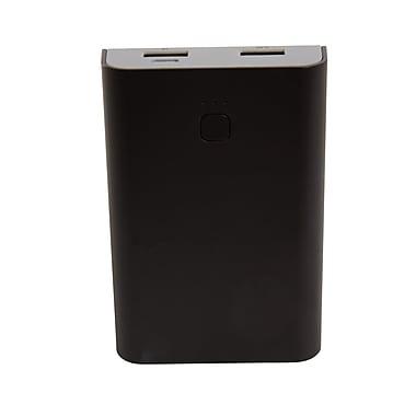 Staples Rechargeable Power Bank, 10050 mAh 2.4 Amp, Black