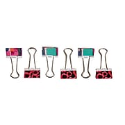 Staples 6/Pack Fashion Binder Clips
