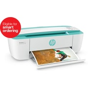 HP DeskJet 3755 Compact All-in-One Photo Printer with Wireless & Mobile Printing, Instant Ink ready - Seagrass Accent (J9V90A)