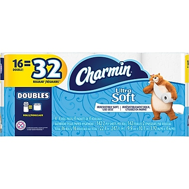 Charmin® Ultra Soft™ Bathroom Tissue, 16 Double Rolls