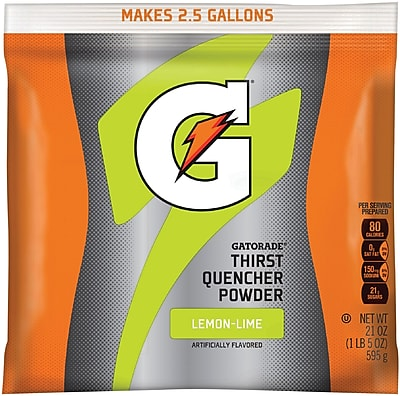 Gatorade® Powder Sports Drink Mix, Lemon-Lime, 21 oz., 32/Pack