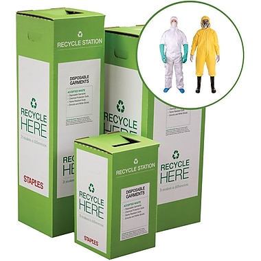 Staples ® Disposable Garments Zero Waste Recycling Box - Large