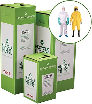 Staples ® Disposable Garments Zero Waste Recycling Box - Small