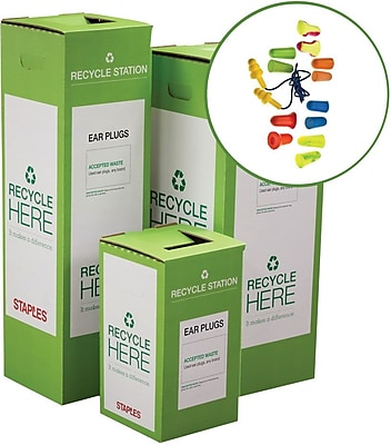 Staples ® Ear Plugs Zero Waste Recycling Box - Small