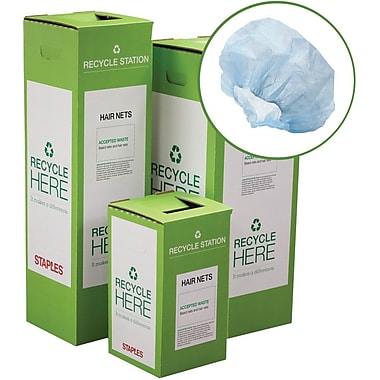 Staples ® Hair Nets, Beard Nets and Earplugs Zero Waste Recycling Box - Small