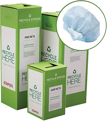 Staples ® Hair Nets, Beard Nets and Earplugs Zero Waste Recycling Box - Large