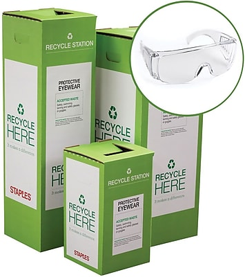 Staples ® Protective Eyewear Zero Waste Recycling Box - Large