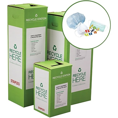 Staples ® Safety Equipment and Protective Gear Zero Waste Recycling Box - Large