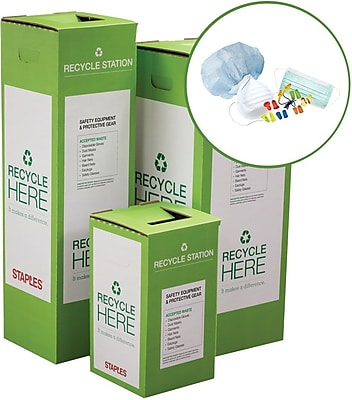 Staples ® Safety Equipment and Protective Gear Zero Waste Recycling Box - Medium