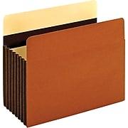 "Pendaflex Heavy Duty Pockets, 7"" Expansion Pocket Folders, Full Length Tab, Letter Size, Brown, 5/Box (15444HD)"