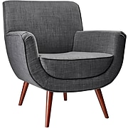 Adesso® Cormac Fabric Accent Chair, Charcoal Gray (GR2000-10)