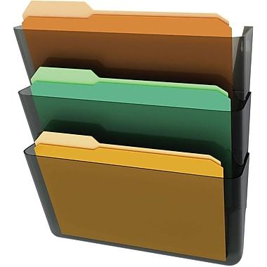Deflecto® EZ Link Wall File, Letter, Black (73602C)