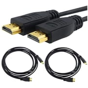 BasAcc 6' Audio TosLink Optical Digital Cable High Quality Surround Sound Audio Black/Gold 1.8M
