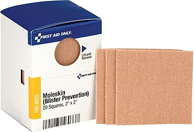 First Aid Only® SmartCompliance™ Moleskin Blister Bandages, 20/Box (FAE-6033)