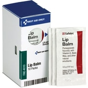 First Aid Only® SmartCompliance™ Lip Balm Packets, 10/Box (FAE-4010) (FAE-4010)