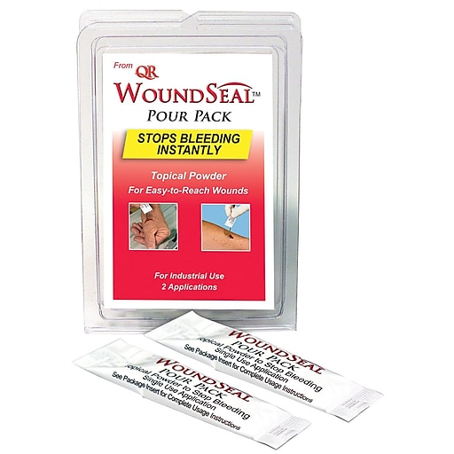 First Aid Only® Woundseal Blood Clot Powder, 2/Pack (90326)