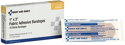 First Aid Only Fabric Adhesive Bandages, 1